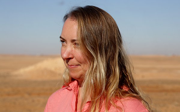 Larisa Eptako in the Sahara Desert in western Algeria