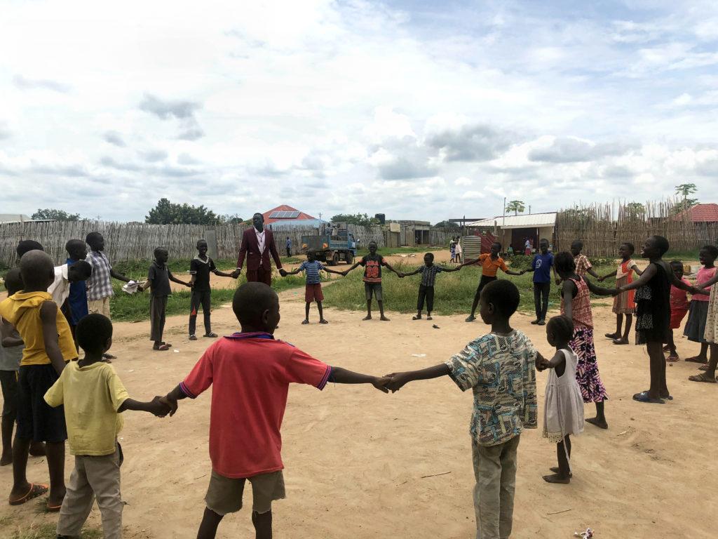 Children playing in Juba